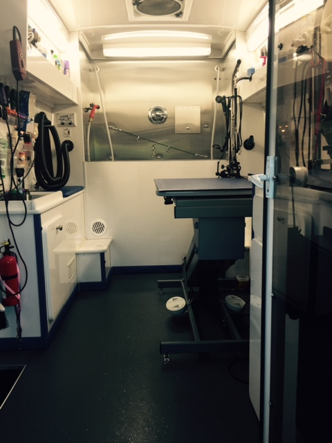 Inside The Grooming Van